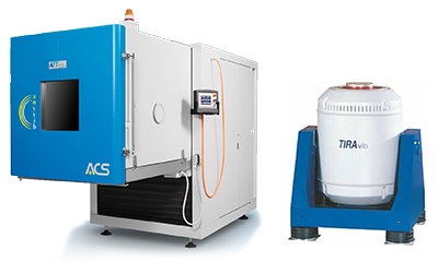 Vibration testing machine combinedwith environmental chamber
