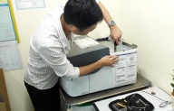 Tecotec carry out preventive maintenance and calibration the EDX-LE X-ray fluorescence spectrometer at Kanepackage Vietnam